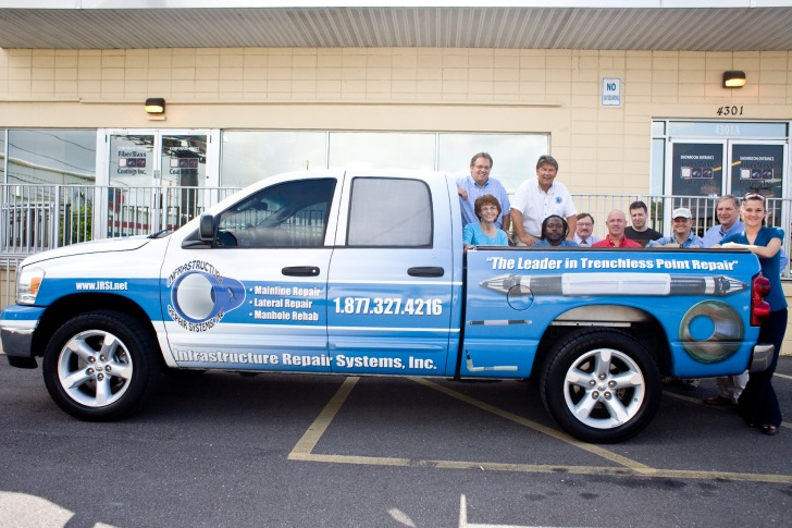 Truck w IRSI Employees