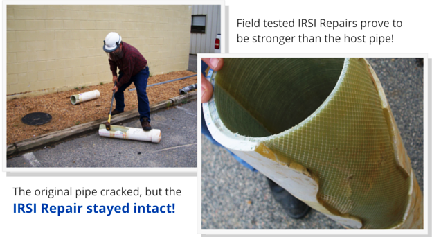 Field tested IRSI Repairs prove to be stronger than the host pipe! (8)
